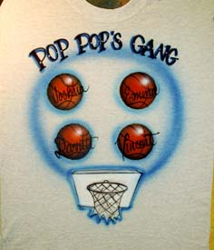 basketballs airbrush t-shirt