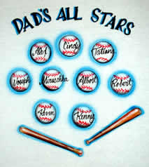 Dad' all-stars baseballs airbrush t-shirt