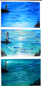 Lighthouse Airbrush Paintings http://www.burrartdesign.com/pages/Beach%20scenes.html