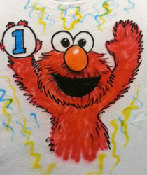 Elmo Birthday Shirt One Year Old