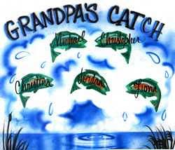 Grandpa's catch airbrush t-shirt