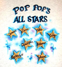 Pop's all stars airbrush t-shirt