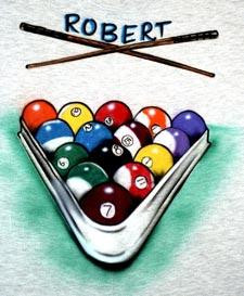 pool billiards airbrush t shirt